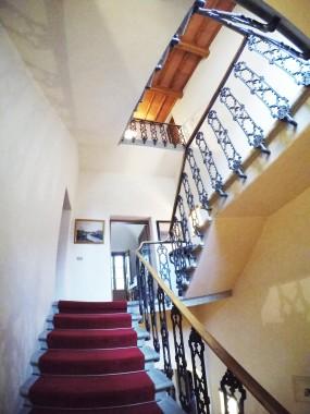 Enchanting staircase of the villa