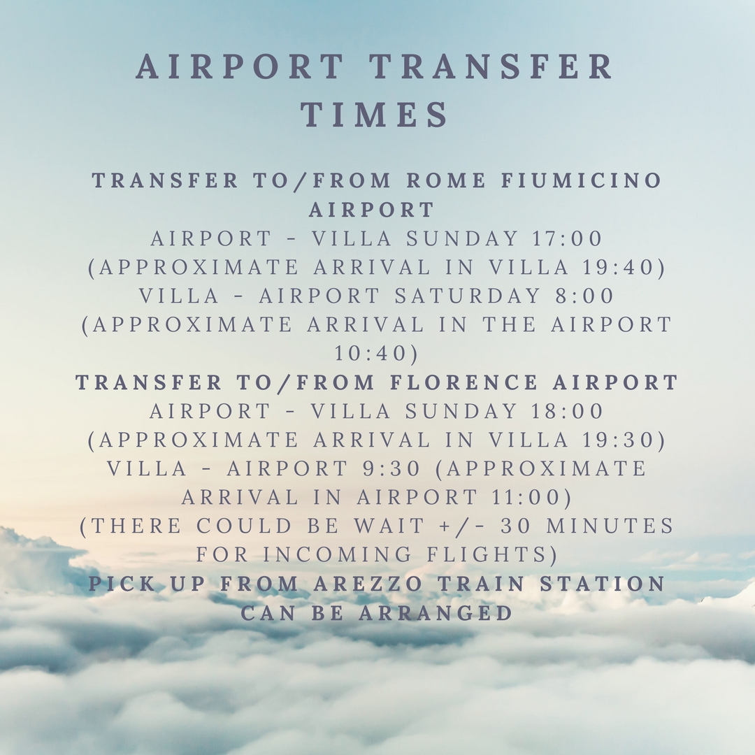 check out our airport pick updrop off times